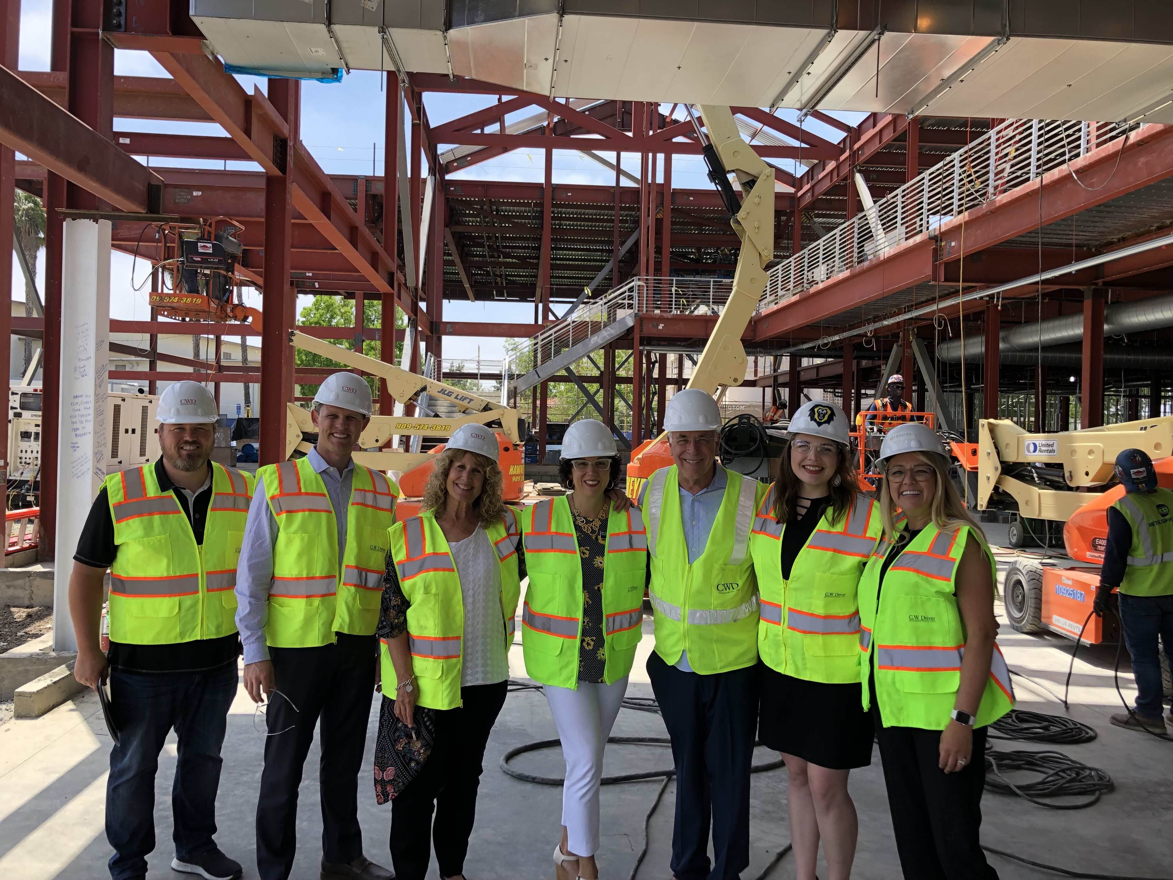 Alumni Board Tours the Site