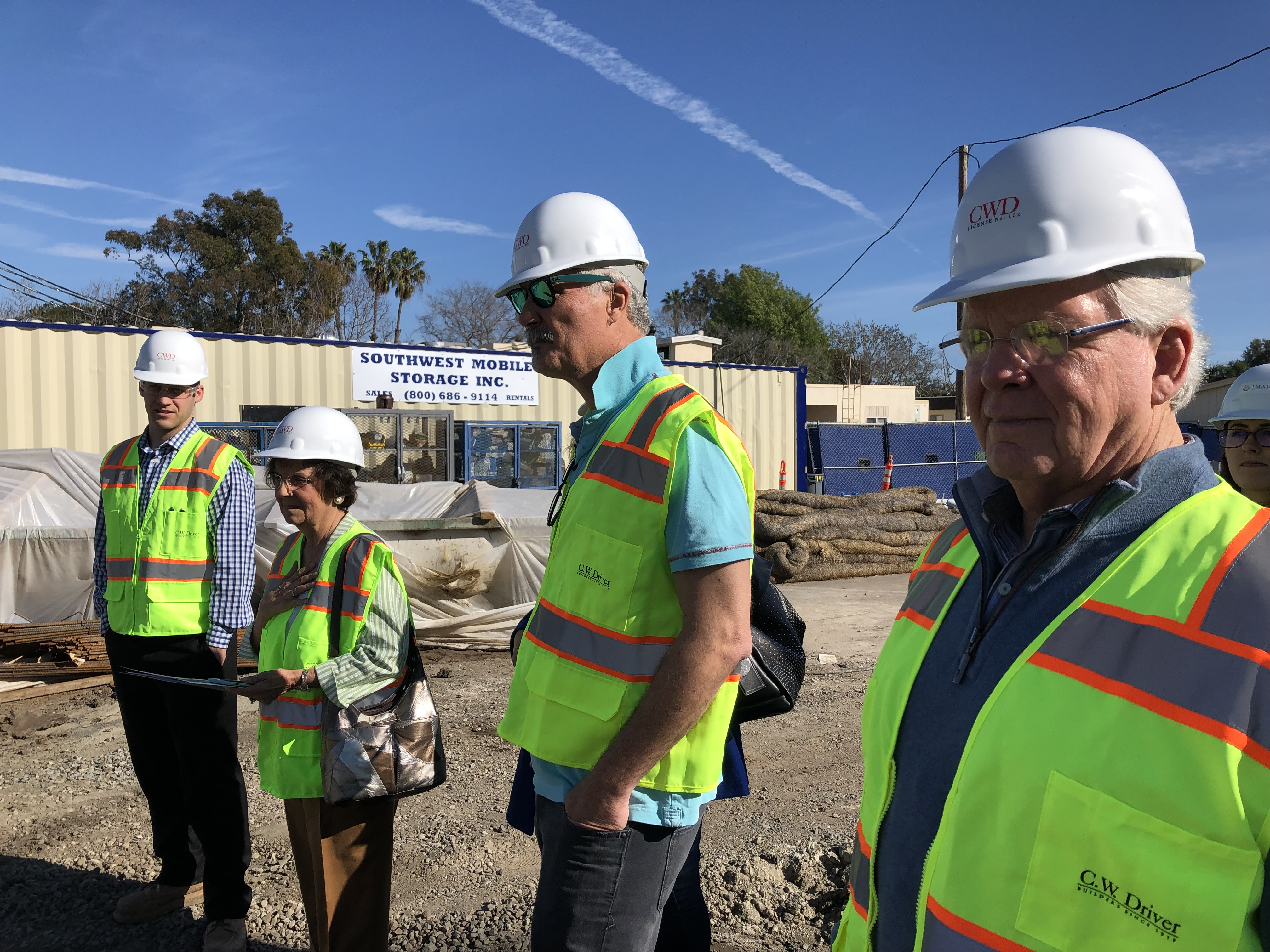 Campaign Committee Tours the Site