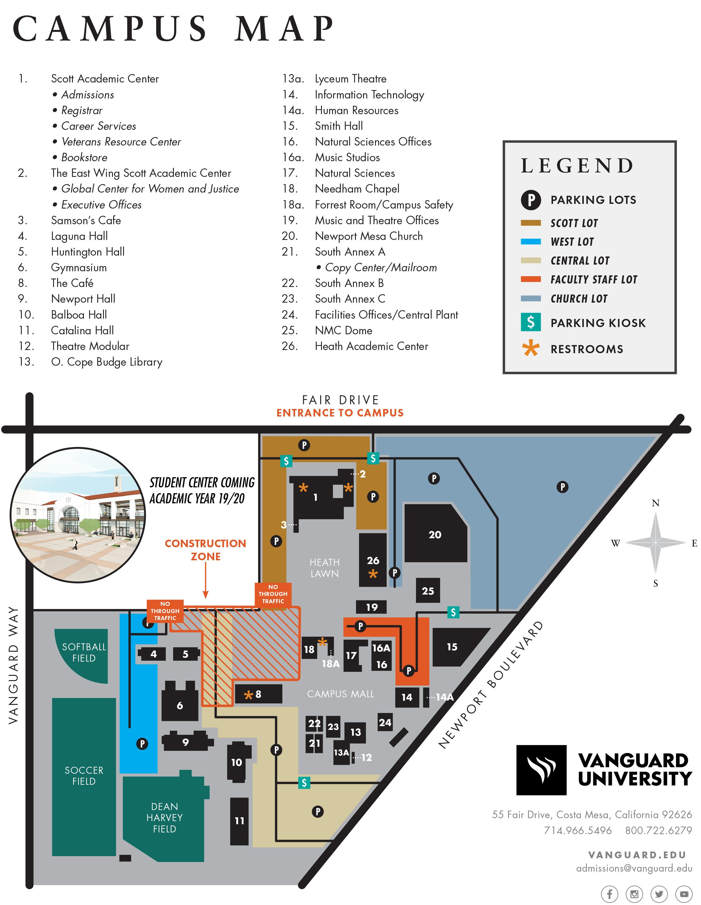University California Map.Vanguard University Map Location