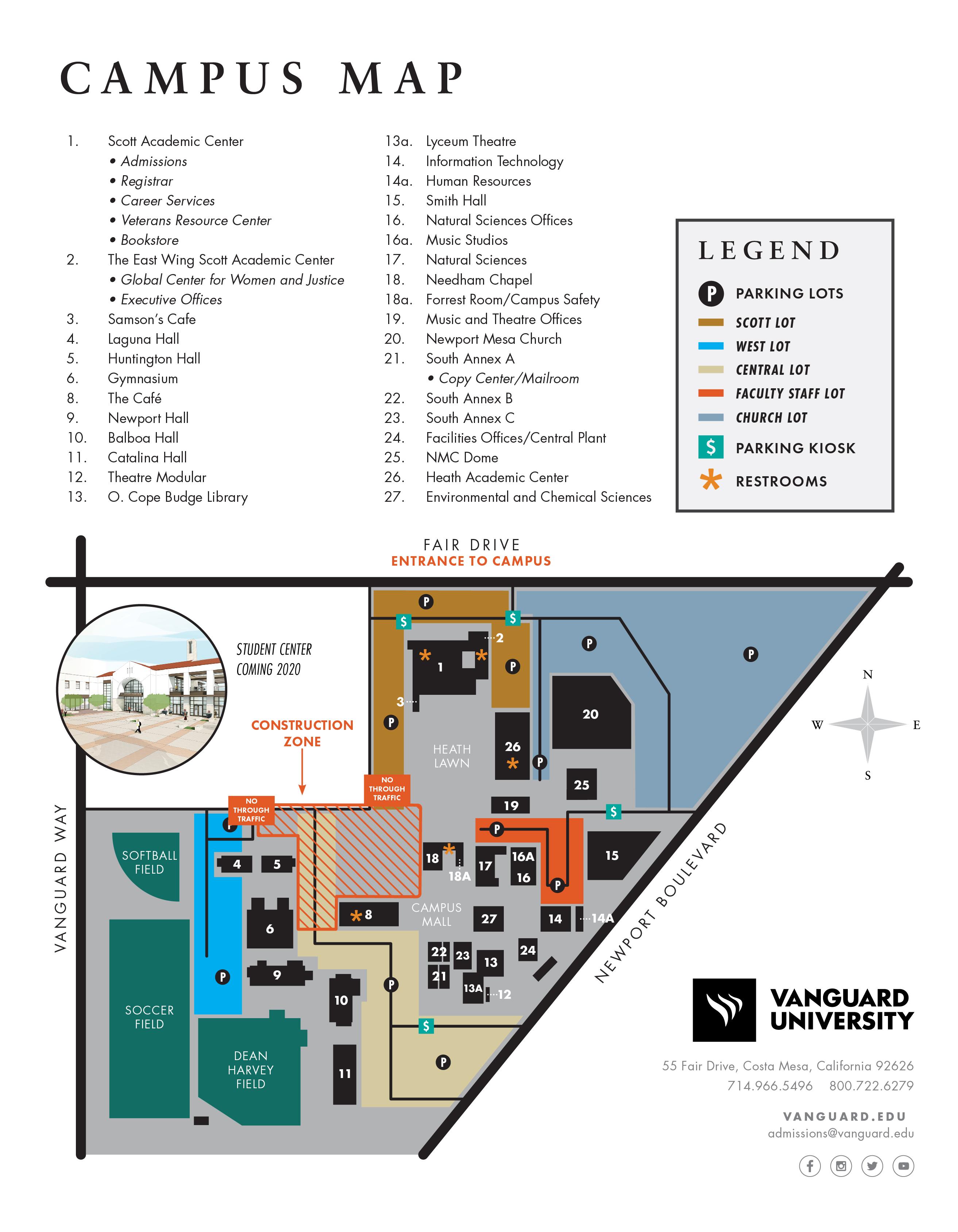 Vanguard University - Map & Location