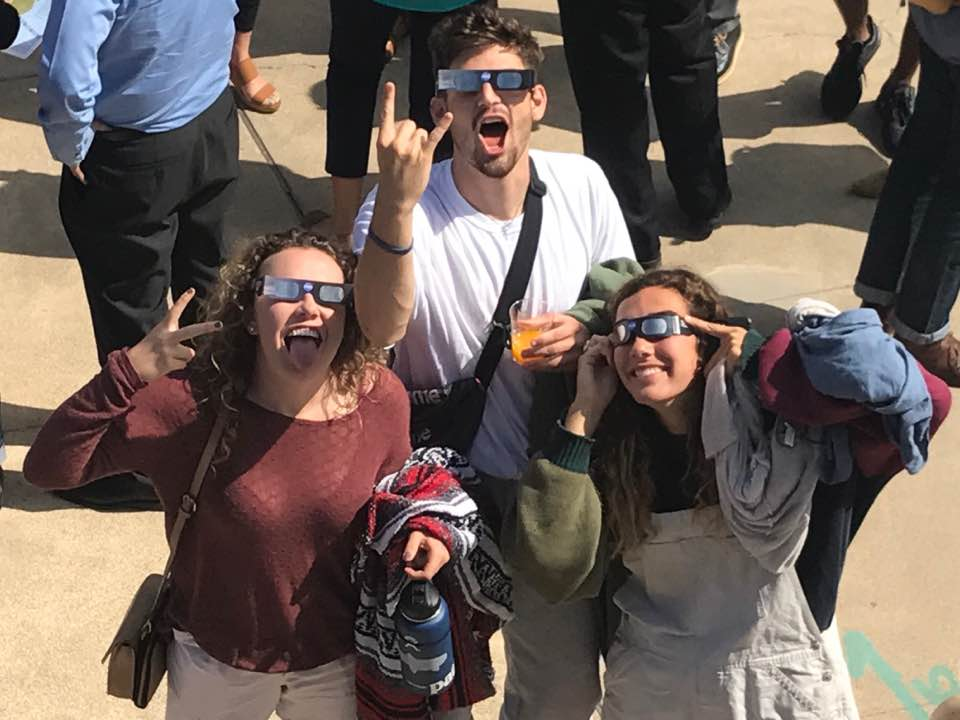 Over 300 Join VU's Eclipse Viewing Party