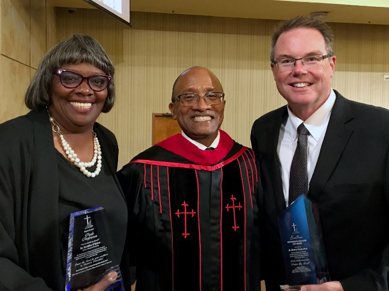 President Beals and Provost O'Quinn Honored by West Angeles Bible College